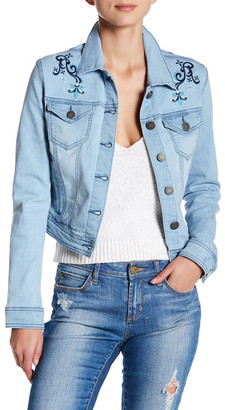 Romeo & Juliet Couture Embroidered Denim Jacket $175 thestylecure.com