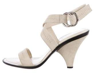 Tod's Suede Ankle Strap Sandals