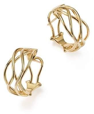 Bloomingdale's 14K Yellow Gold Wave Wire Hoop Earrings - 100% Exclusive