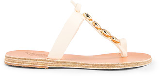Ancient Greek Sandals Iris Gold Shells Sandals in Off White | FWRD