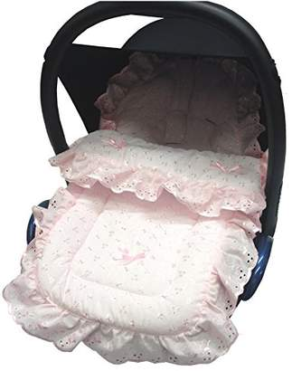 Graco Broderie Anglaise Car Seat Footmuff/Cosy Toes Compatible with Junior Baby/Logico Pink