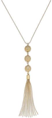 INC International Concepts I.n.c. Triple Sphere Tassel Necklace