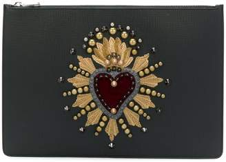 Dolce & Gabbana Document Holder With Heart Patch clutch