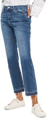 Women's Topshop Dree Released Hem Flare Jeans $75 thestylecure.com