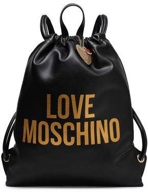 Love Moschino Logo-print Faux Leather Backpack