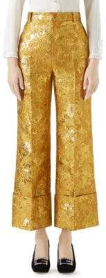 Gucci Brocade Flare Pants