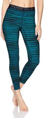 Duofold Women's Mid Weight Fleece Lined Thermal Legging Underwear,