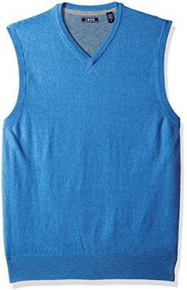 Izod Men's Fine Gauge Solid V-Neck Sweater Vest