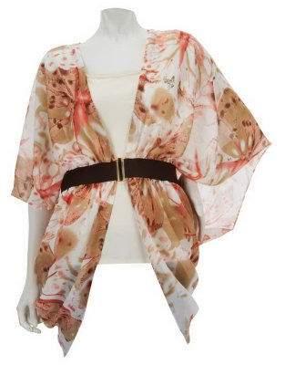 Couture Sure By Renee Mccartney Renee's Reversible Jacket Top w/Built-In Belt by Sure