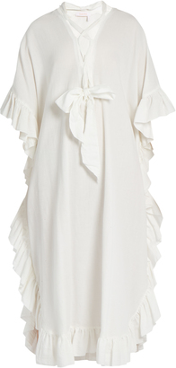 SEE BY CHLOÉ Ruffle-trimmed cotton-blend dress $285 thestylecure.com