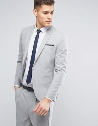 Asos DESIGN Skinny Suit Jacket in Pale Gray