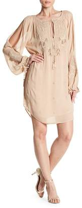 Haute Hippie Penny Long Sleeve Embellished Dress