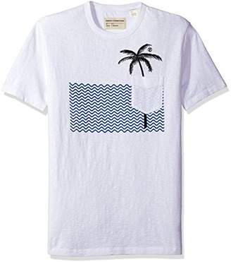 French Connection Men's Palm Tree Short Sleeve T-Shirt