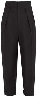 Haider Ackermann - High Rise Wool Trousers - Mens - Black
