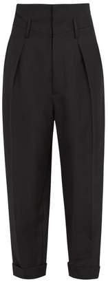 Haider Ackermann High Rise Wool Trousers - Mens - Black