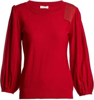 Sonia Rykiel Balloon-sleeve wool-knit sweater