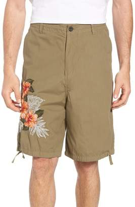 French Connection Embroidered Poplin Shorts