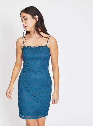 Miss Selfridge Petite teal go lace dress