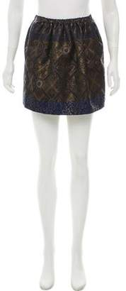 Tibi Metallic Jacquard Mini Skirt