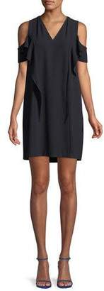 Elie Tahari Micaela Cold-Shoulder Mini Dress