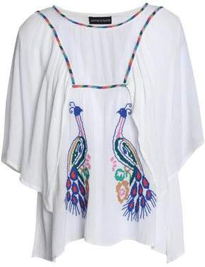 Antik Batik Embroidered Gauze Top