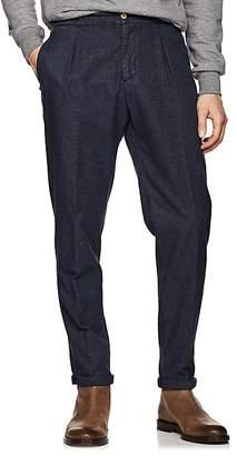Marco Pescarolo Men's Cotton-Blend Basket-Weave Trousers