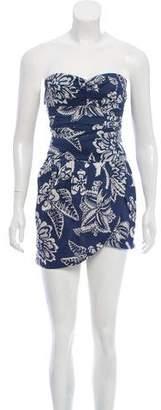 Isabel Marant Printed Strapless Dress