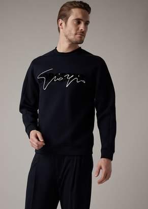 Giorgio Armani Gorgeous Sweatshirt With Flocked Print On The Front