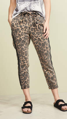 Pam & Gela Leopard Pants With Sash