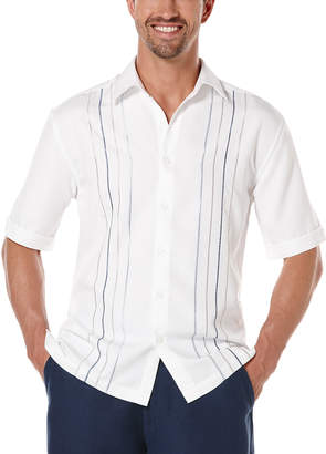 Cubavera Short Sleeve Tri-Color Embroideried Shirt