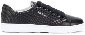 Prada quilted low-top sneakers