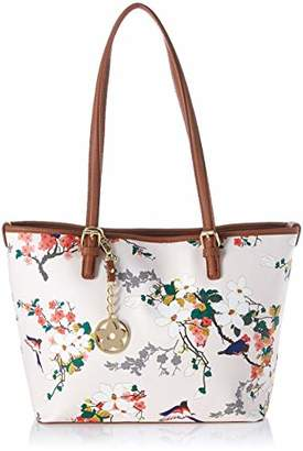 Bueno of California Faux Leather Smooth Printed Tote