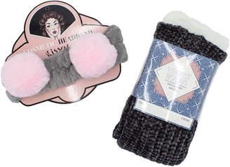 Minx Ny Lounge Socks And Pom Pom Cosmetic Headback