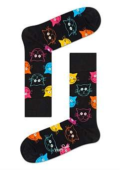 Happy Socks Cat Multi Sock