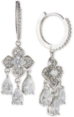 Jenny Packham Crystal Hoop & Flower Drop Earrings