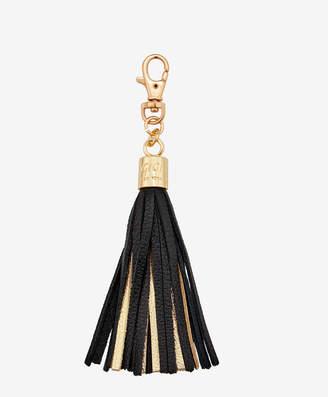 GiGi New York Tassel Bag Charm, Black and Gold