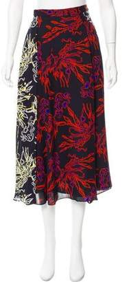 Tanya Taylor Silk Midi Skirt w/ Tags