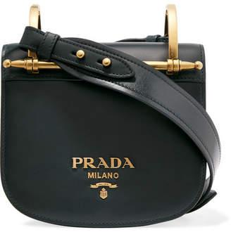 Prada Pionnière Leather Shoulder Bag Emerald
