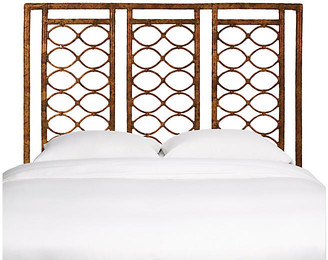 David Francis Furniture Infinity Headboard - Tortoise Shell