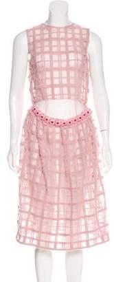 Simone Rocha Embellished Mesh Dress