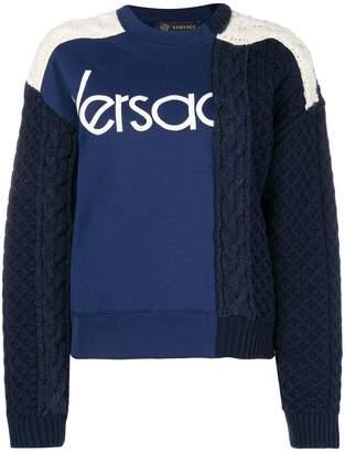 Versace logo knit jumper