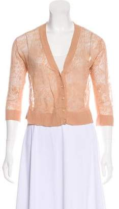 Ermanno Scervino Sheer Lace Cardigan