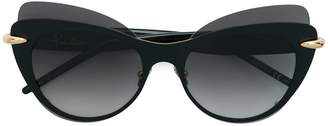 Pomellato Eyewear double framed cat eye sunglasses