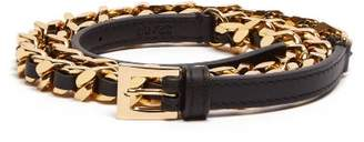 Burberry Leather Chain Link Belt - Womens - Black