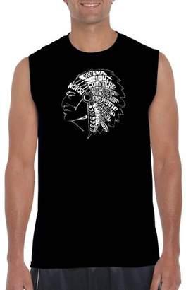 Los Angeles Pop Art Big Men's sleeveless t-shirt - popular native American Indian tribes