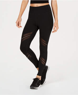 Calvin Klein High-Waist Sheer-Inset Leggings