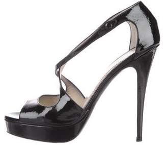 Saint Laurent Agadir 90 Patent Sandals