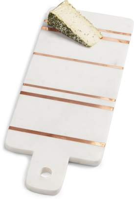 Nordstrom Brass Inlay Marble Cutting Board