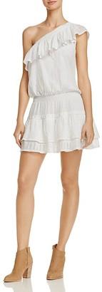 Joie Kolda Ruffled One Shoulder Dress $298 thestylecure.com