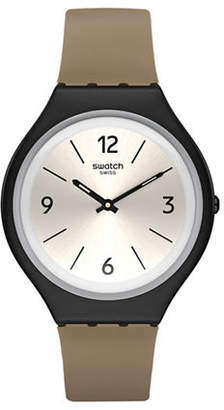 Swatch Skin Collection Skinsand Stainless Steel Faux Leather Strap Watch
